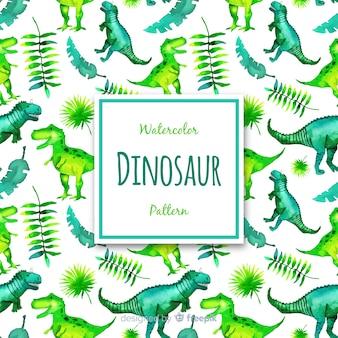 Estampado de dinosaurios en acuarela