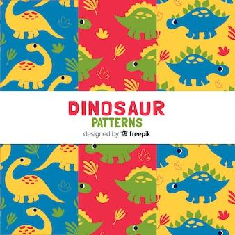 Estampado de dinosaurios en diseño plano