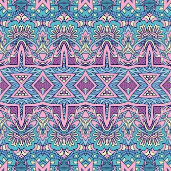 Estampado étnico geométrico abstracto vector decorativo sin fisuras patrón ornamental