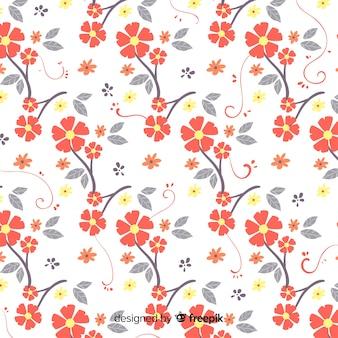 Estampado floral dibujado a mano