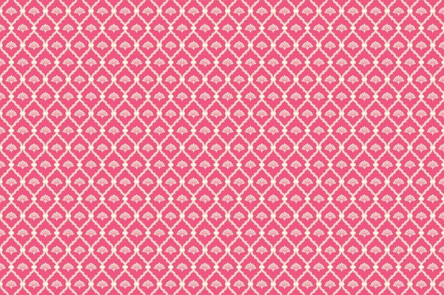Estampado de flores rosa y crema
