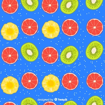 Estampado de fruta tropical