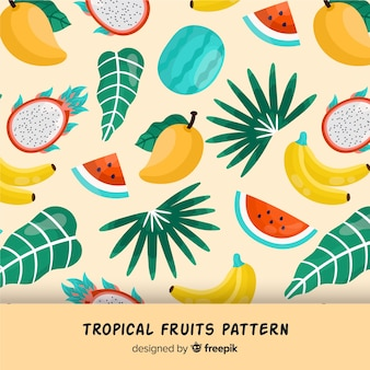 Estampado de fruta tropical