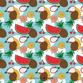Estampado de frutas tropicales