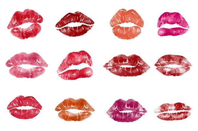 Estampado labial estilo pop art