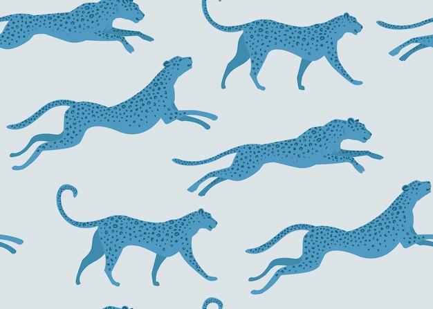 Estampado leopardo del diseño de moda de patrón transparente.