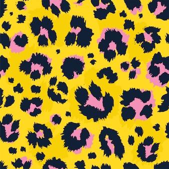 Estampado de leopardo de patrones sin fisuras.
