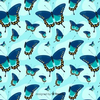Estampado de mariposa