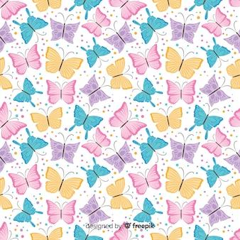 Estampado de mariposas en diseño plano