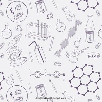 Estampado de objetos de ciencia