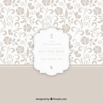Estampado ornamental con la insignia de la boda