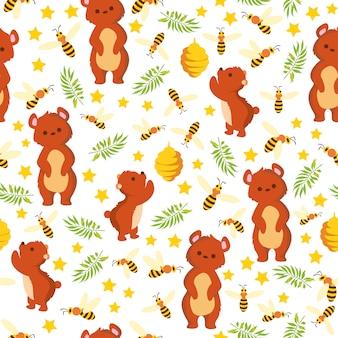 Estampado de osos de abeja