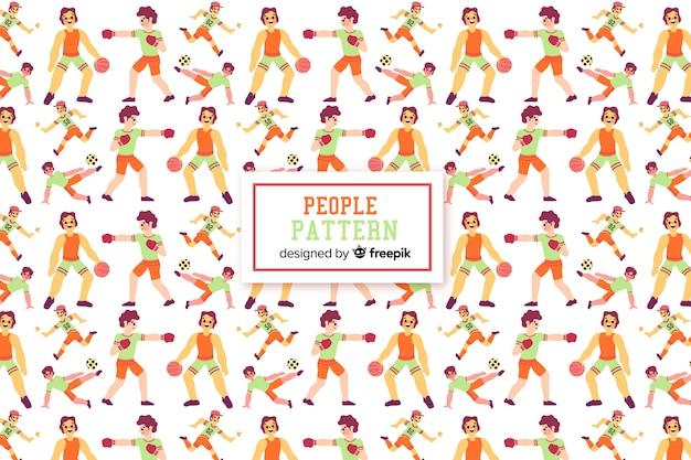 Estampado de personas
