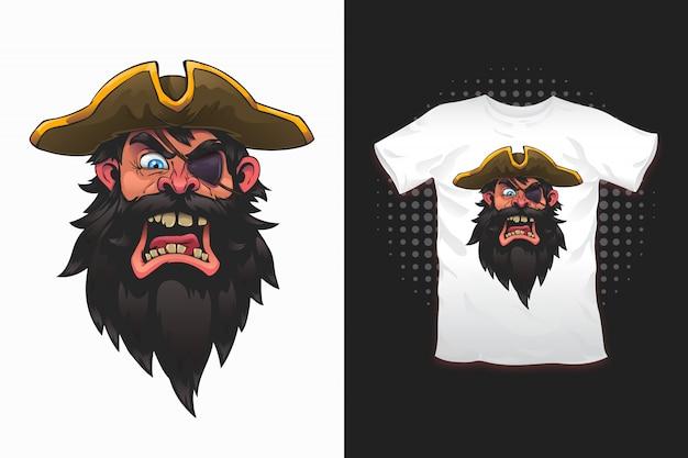 Estampado pirata para diseño de camiseta.