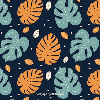 Estampado de planta monstera