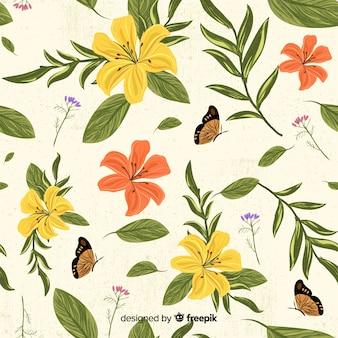 Estampado retro de botánica