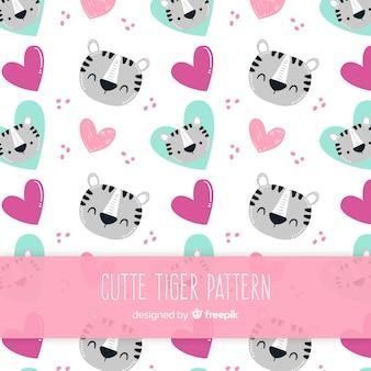 Estampado de tigre adorable