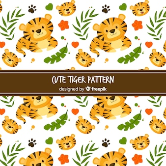 Estampado de tigre adorable