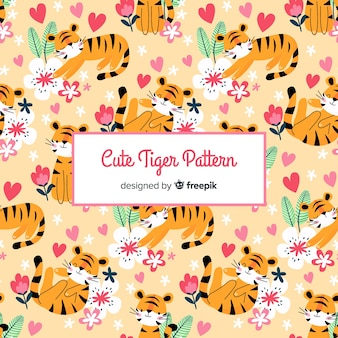 Estampado de tigres adorables