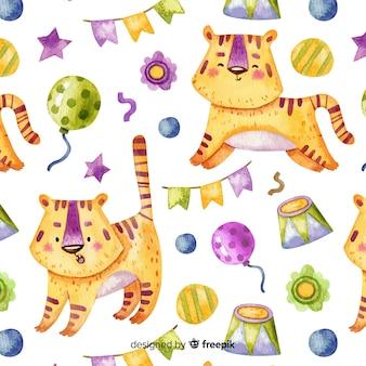 Estampado de tigres de circo