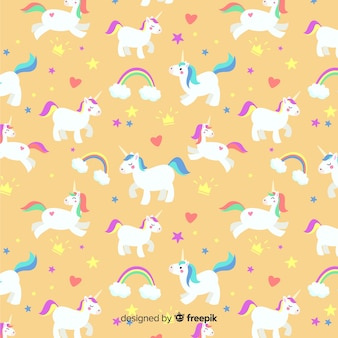Estampado de unicornio en diseño plano