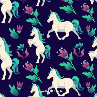 Estampado de unicornio