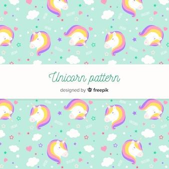 Estampado de unicornios en diseño plano