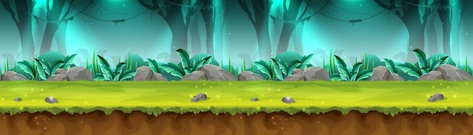 Estandarte de la selva tropical misteriosa para el juego