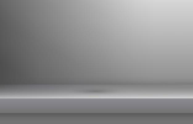 Estante de color blanco vacío con sombra
