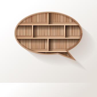 Estante de madera de diseño creativo de burbujas de discurso