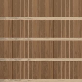 Estante de madera vacío realista