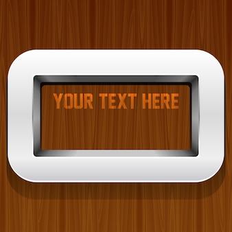 Estantes modernos con lugar para su texto.
