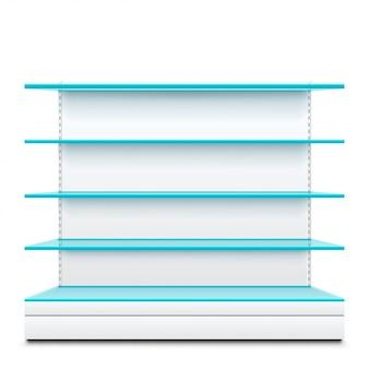 Estantes de vidrio azul