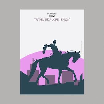 Estatua de boliva nueva york, ee. uu. cartel de referencia