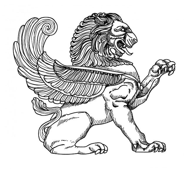 Estatua de león