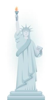 La estatua de la libertad en la ciudad de nueva york.