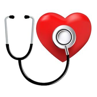 Estetoscopio y corazón