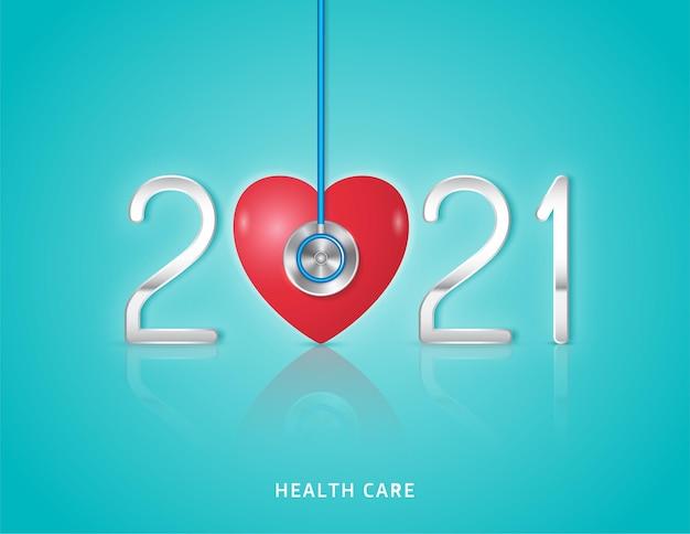 Estetoscopio médico y sanitario y chequeo cardíaco