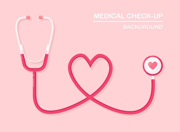 Estetoscopio médico sobre fondo. salud, investigación del concepto de corazón.