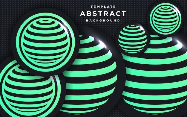Estilo 3d abstracto con fondo de esfera