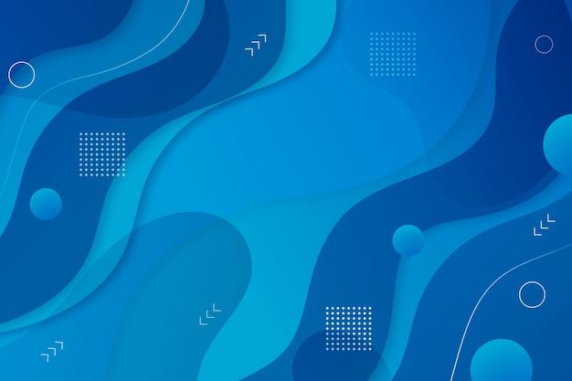 Estilo abstracto de fondo azul clásico