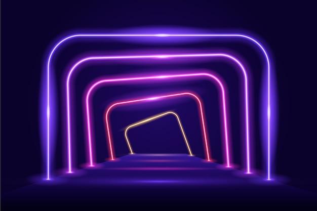 Estilo abstracto de fondo de luces de neón
