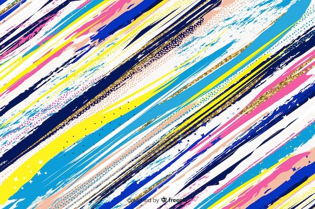 Estilo abstracto de trazos de pincel