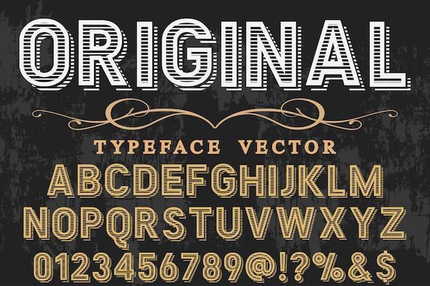 Estilo antiguo tipografía diseño de la etiqueta original