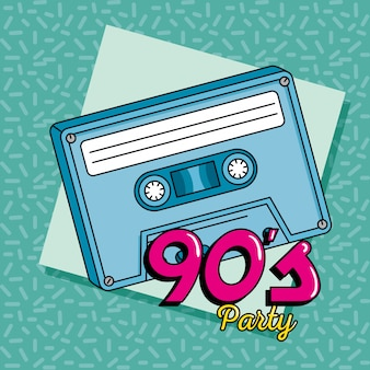 Estilo de arte de cassette de música de los noventa