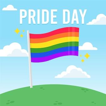 Estilo de la bandera del día del orgullo