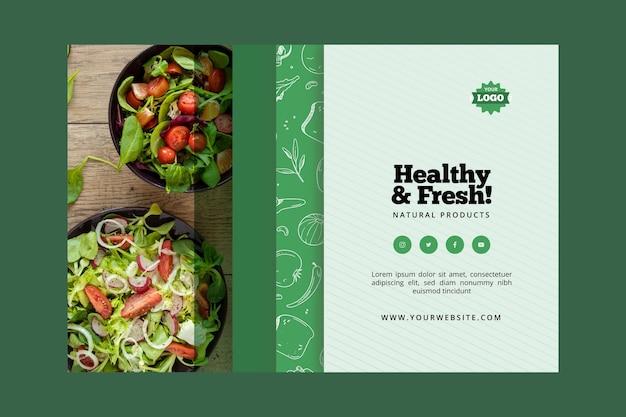 Estilo de banner de comida bio y saludable.
