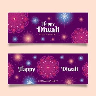 Estilo de banners de tradición de diwali