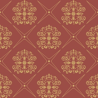 Estilo barroco inconsútil del modelo de la vendimia. papel tapiz floral textil,