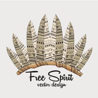 Estilo boho de espíritu libre
